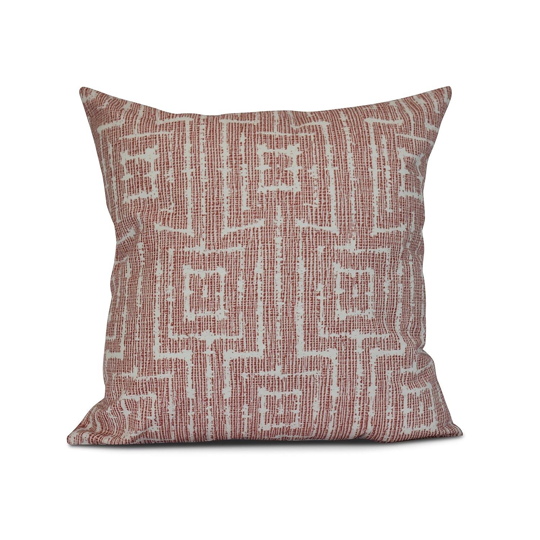 Purple 18 x 18 E by design Woven Tiki Geometric Print Pillow