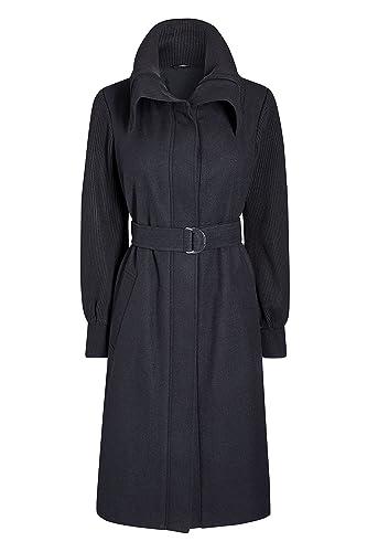 next Mujer Abrigo Con Mangas De Punto Azul Marino EU 36 Regular (UK 8 R)