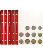 PELLER'S Hojas con 20 compartimentos para monedas: 35mm X 40mm. Para álbum tipo M. Paqute de 10. Para monedas de hasta 31mm de diámetro.