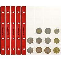 PELLER'S. Feuilles pour collection de pièces de monnaie, 35mm X 40mm (pour classeur M). Paquet de 10 pièces. 20 Pochettes pour monnaies idéal pour les pièces en euros et autres jusqu'à 31 mm de diamètre.