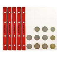 10 Feuilles pour collection de pièces de monnaie, 35mm X 40mm (pour classeur M). 20 Pochettes pour monnaies idéal pour les pièces en euros et autres jusqu'à 31 mm de diamètre.