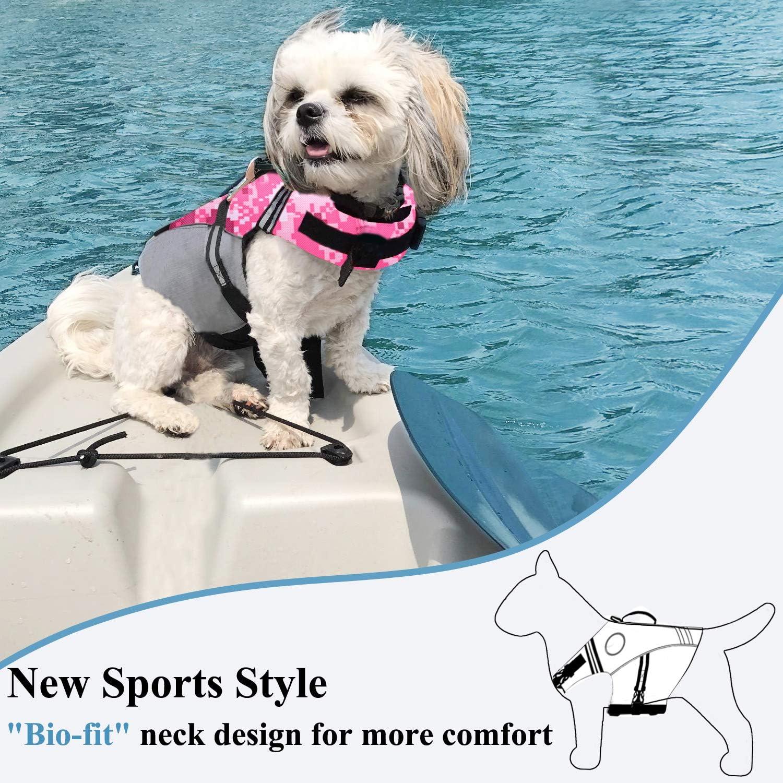 Perros Seguridad Nataci/ón Ropa VIVAGLORY Chaleco Salvavidas para Perros Deportivo