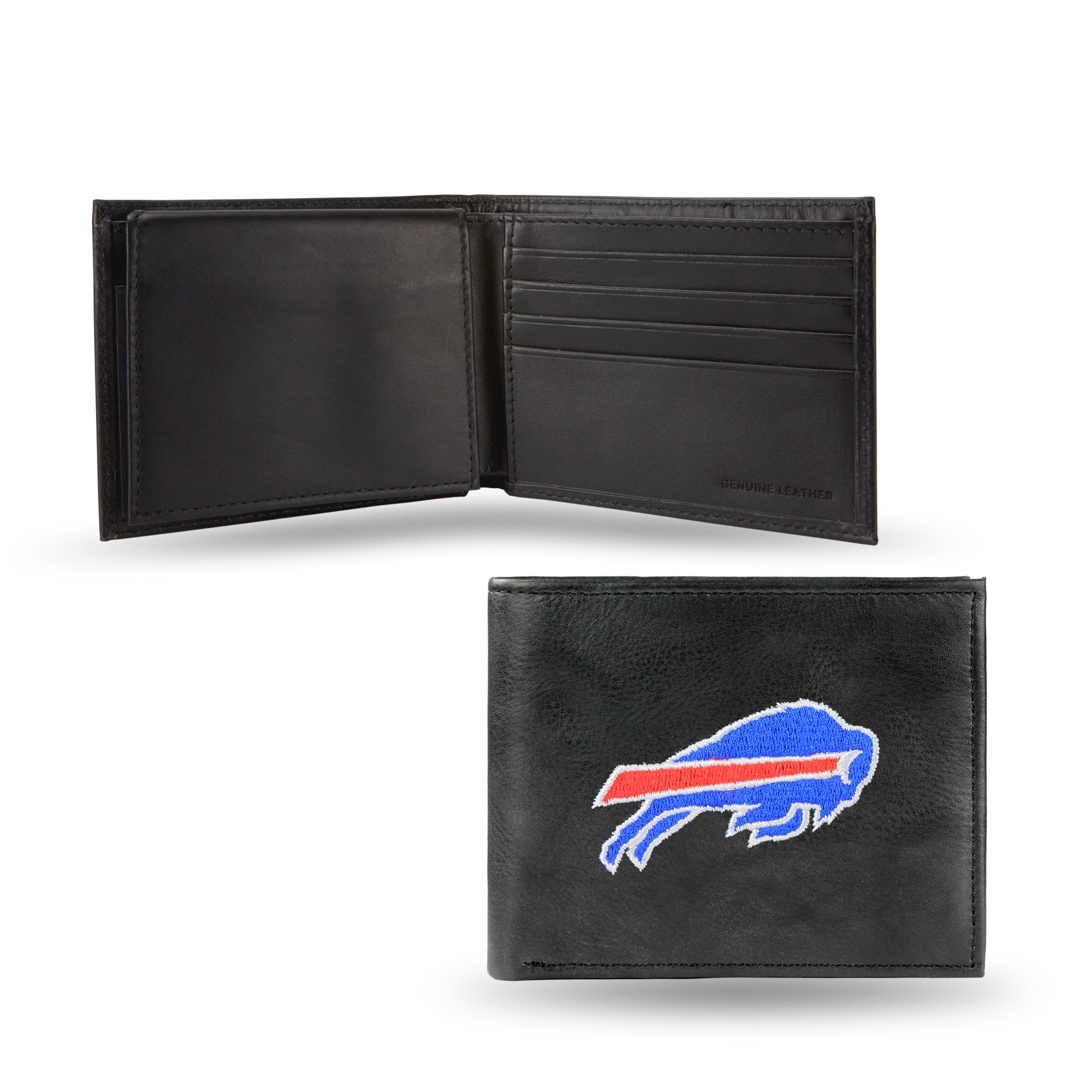 NFL Buffalo Bills Embroidered Leather Billfold Wallet