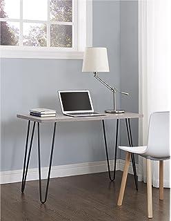 Ameriwood Home Owen Retro Desk With Metal Legs (GrayOak/ Gray)