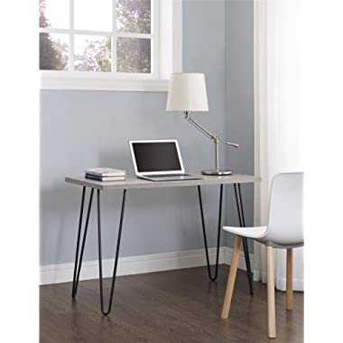 Ameriwood Home 9851296PCOM Altra Owen Retro Desk with Metal Legs Weathered Oak