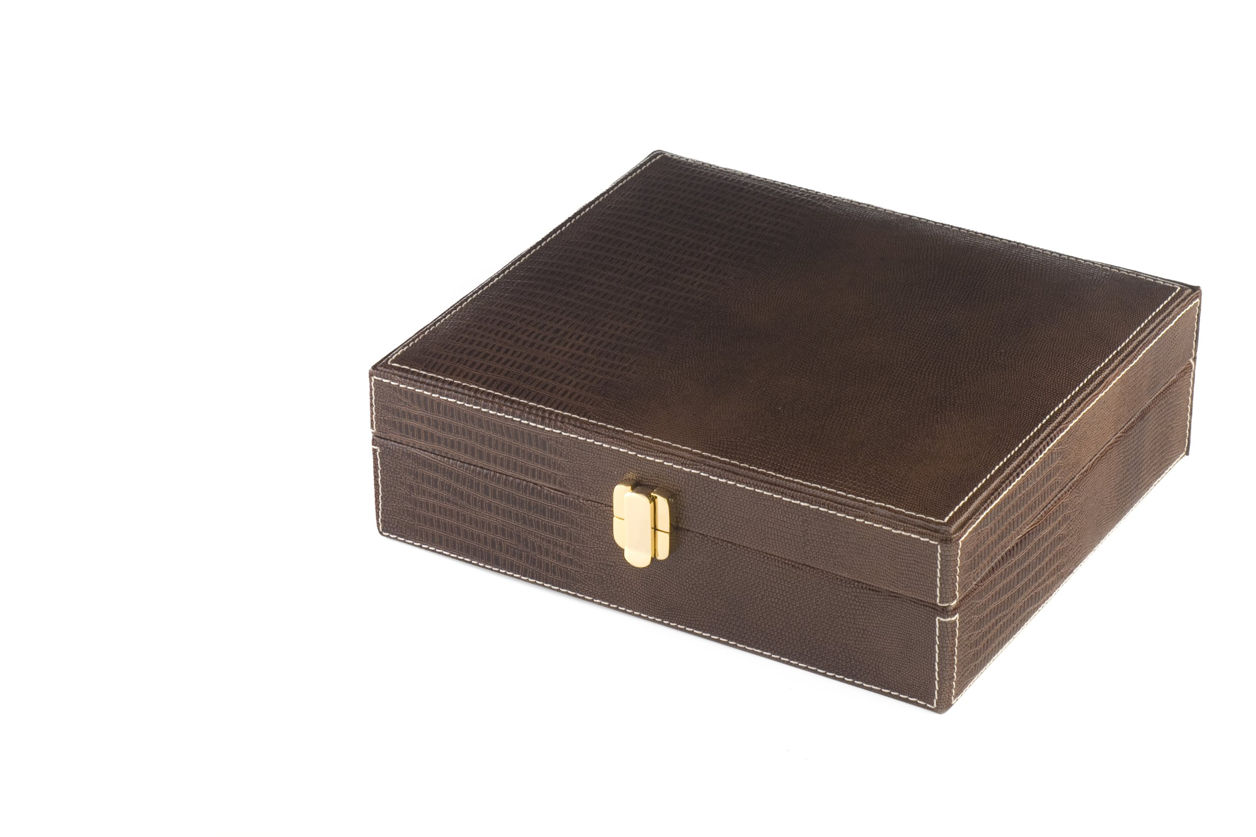 Orleans Group giftsets Leather Humidor Giftset, Brown