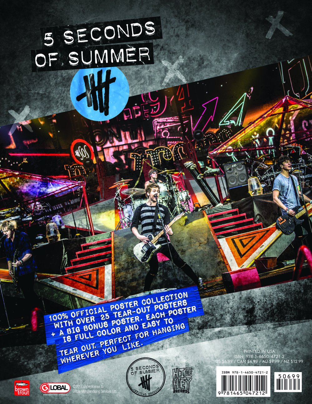 5sos poster design - 5 Seconds Of Summer Poster Collection Browntrout Publishers 9781465047212 Amazon Com Books