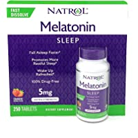 Natrol Melatonina tabletas de disolución rápida, sabor a fresa, 5 mg, 250 Count