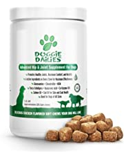 Doggie Dailies Glucosamine for Dogs, 225 Soft Chews, Advanced Hip and Joint Supplement for Dogs with Glucosamine, Chondroitin, MSM, Hyaluronic Acid and CoQ10, Premium Dog Glucosamine Made in the USA