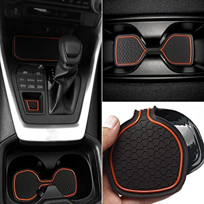 Auovo Anti Dust Mats for Toyota RAV4 2020 2020 Custom Fit Door Compartment Cup Holder Console Liners Interior Accessories(13pcs/Set) (Orange): Automotive