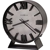 Howard Miller Indigo Mantel Clock 635-209 – Aged Silver Finish, Deep Bent Iron Metal Frame, Machined Steel Background…