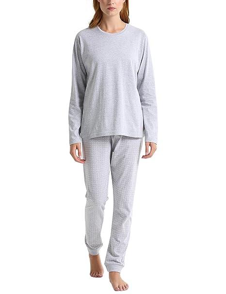 Berydale Bd325, Pijama Mujer, (Grau/Orange), X-Small