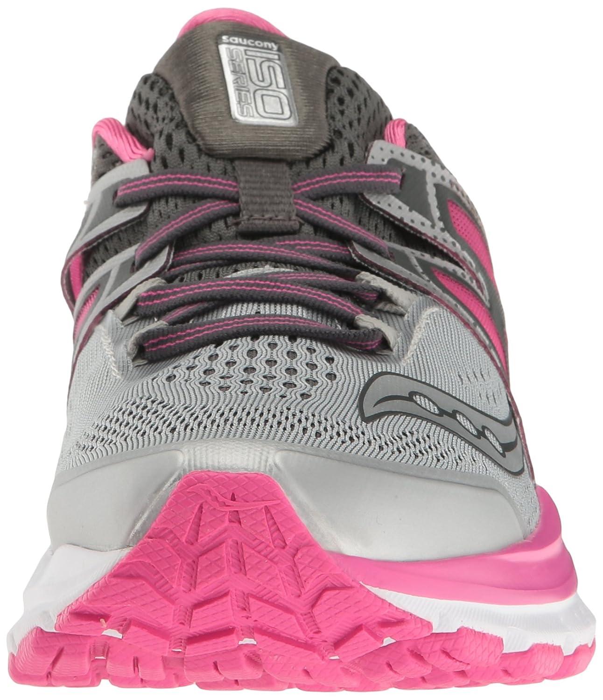 Saucony Women's Hurricane ISO W 3 Running Shoe B01GIJR3YM 7 W ISO US|Grey/Pink/White c6e40e