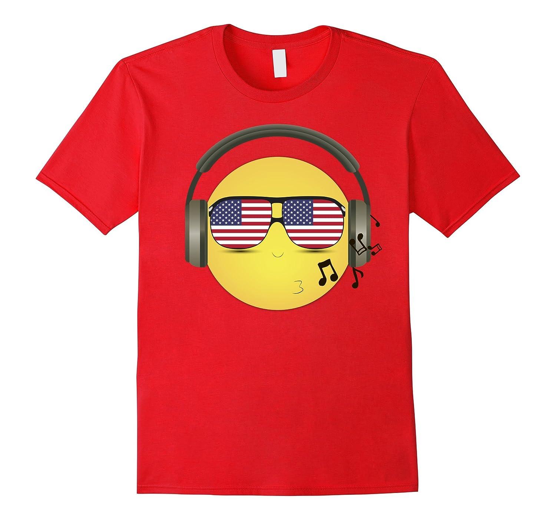Whistling COOL Patriotic Emoji Headphones  USA Shades-PL