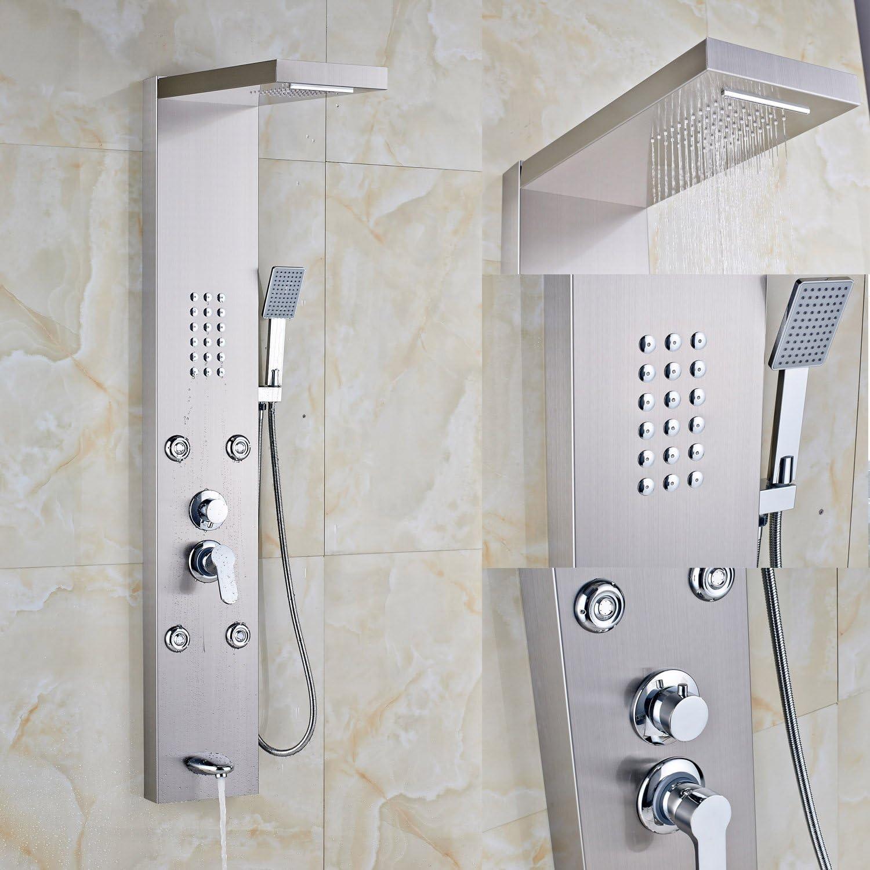 Rozin grifo soporte de pared Panel de ducha columna de ducha Jets ...