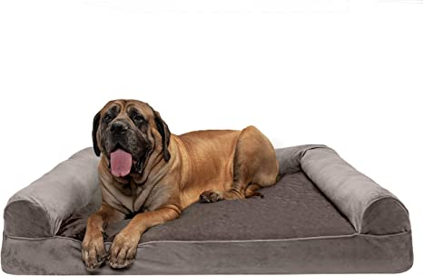 Orthopedic Sofa-Style Traditional Living Room Couch Pet Bed w// Removable Cover for Dogs /& Cats Available in Multiple Colors /& Styles Furhaven Pet Dog Bed