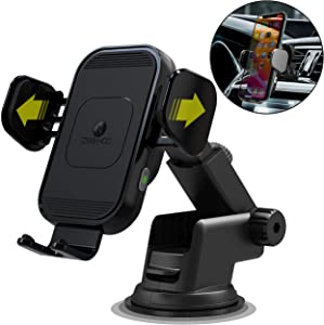 [2020 Upgraded Version] ZeeHoo Wireless Car Charger,15W Qi Fast Charging Auto-Clamping Car Mount,Windshield Dash Air Vent Phone Holder Compatible with iPhone 11 Pro Max,Samsung Note 10 (Black)