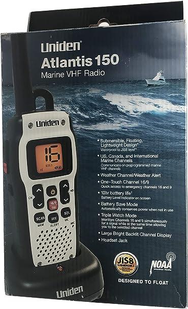 Uniden UN-MHS126 Handheld Two-Way VHF Marine Radio w//Weather Alerts