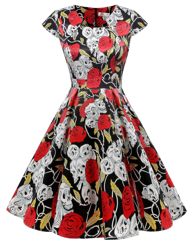 Homrain DRESS レディース レディース B0796QZWKQ S|Black Skull Rose Skull Black DRESS Rose Skull S, 人形盆提灯専門店 灯り屋:7c14bbb3 --- norcrosseyecenter.net