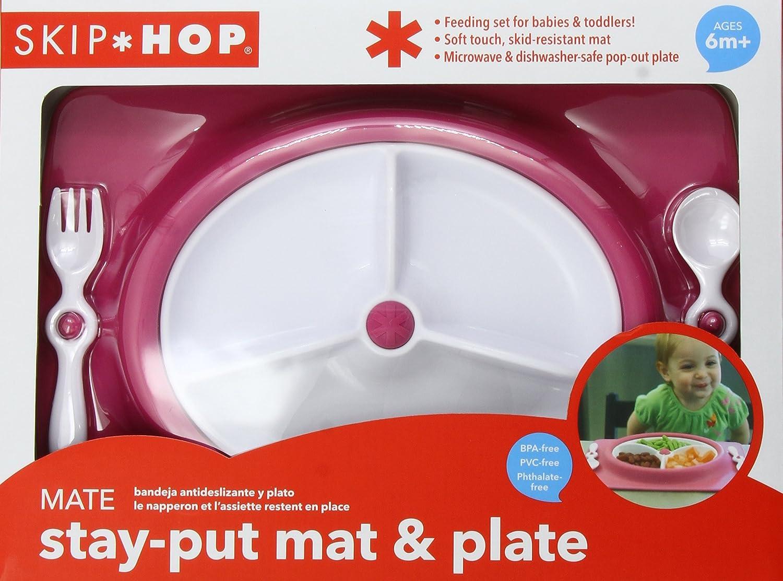 Skip Hop Mate Feeding Plate and Utensils (Raspberry) 263002
