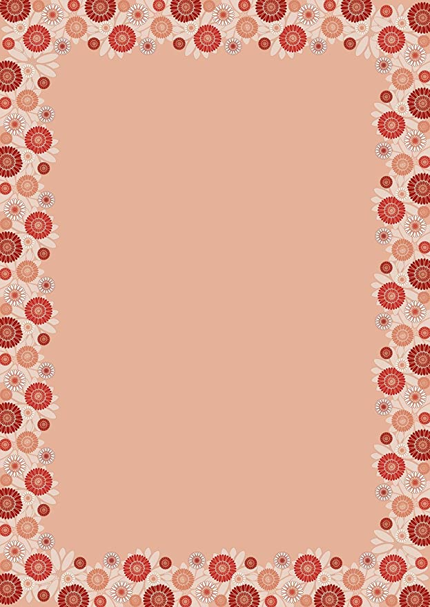 Papel de carta flor fantasía DIN A4, 90 g/m², color weiß 50 Blatt ...