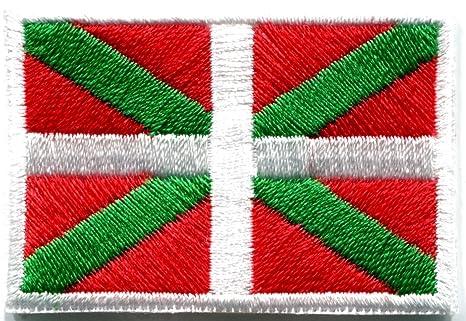 Bandera de ikurrina Vasco España español pabellón bordado Applique parche para planchar (nuevo tamaño mediano. Pasa ...