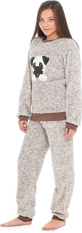 Jersey Baumwolle Pyjama Damen Mädchen Neuheit Mops Hund Einhorn Mum Tochter