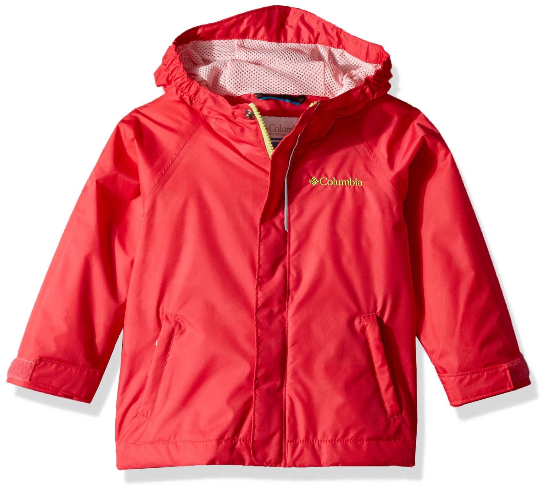 Columbia Toddler Kids Fast and Curious Rain Jacket, Punch Pink Campin, 2T