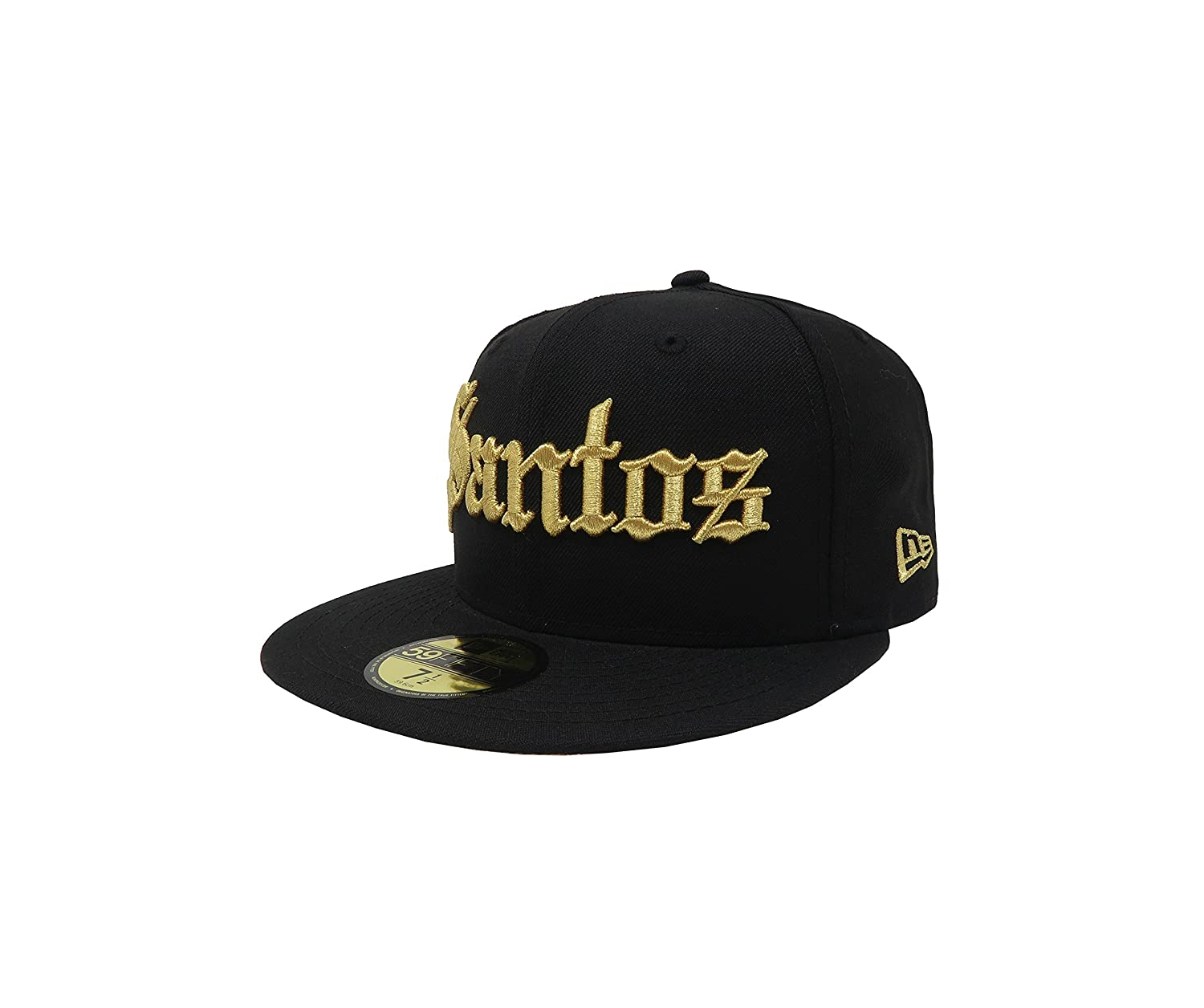 Amazon.com: New Era 59Fifty Hat Santos Laguna Soccer Club Mexican League Black with Gold Gorra: Clothing