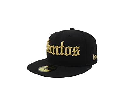 New Era 59Fifty Hat Santos Laguna Soccer Club Mexican League Black Gold Gorra (6 7