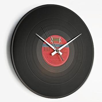 SCHALLPLATTEN UHR - Discoclock–Uhr Vinyl/Vinyl record Clock ...