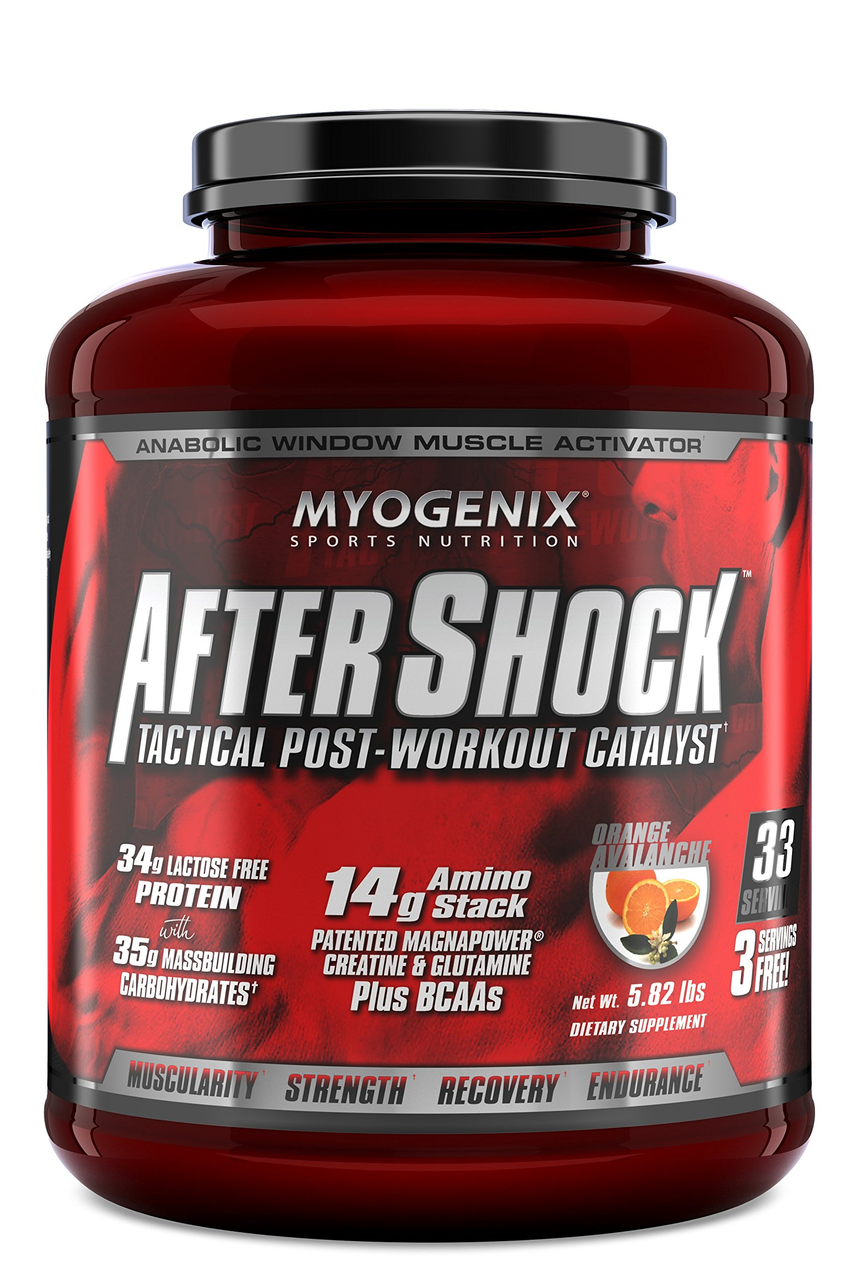 Myogenix Aftershock Orange Avalanche 5.82Lb