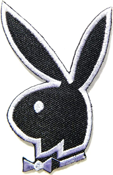 Playboy Bunny Black /& White Iron Sew on Embroidered Patch Badge Logo
