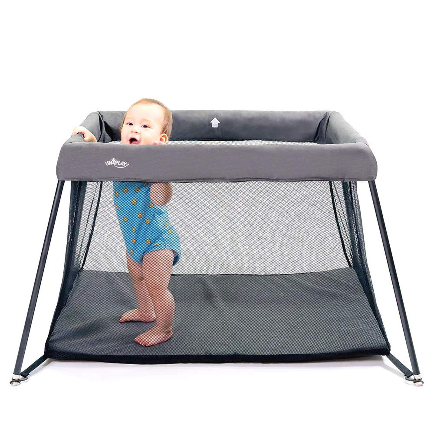 UNiPlay Portable Lightweight Baby Playpen Playard Travel Crib Pack 'N Play with Comfortable Mattress and Breathable Mesh Fabric