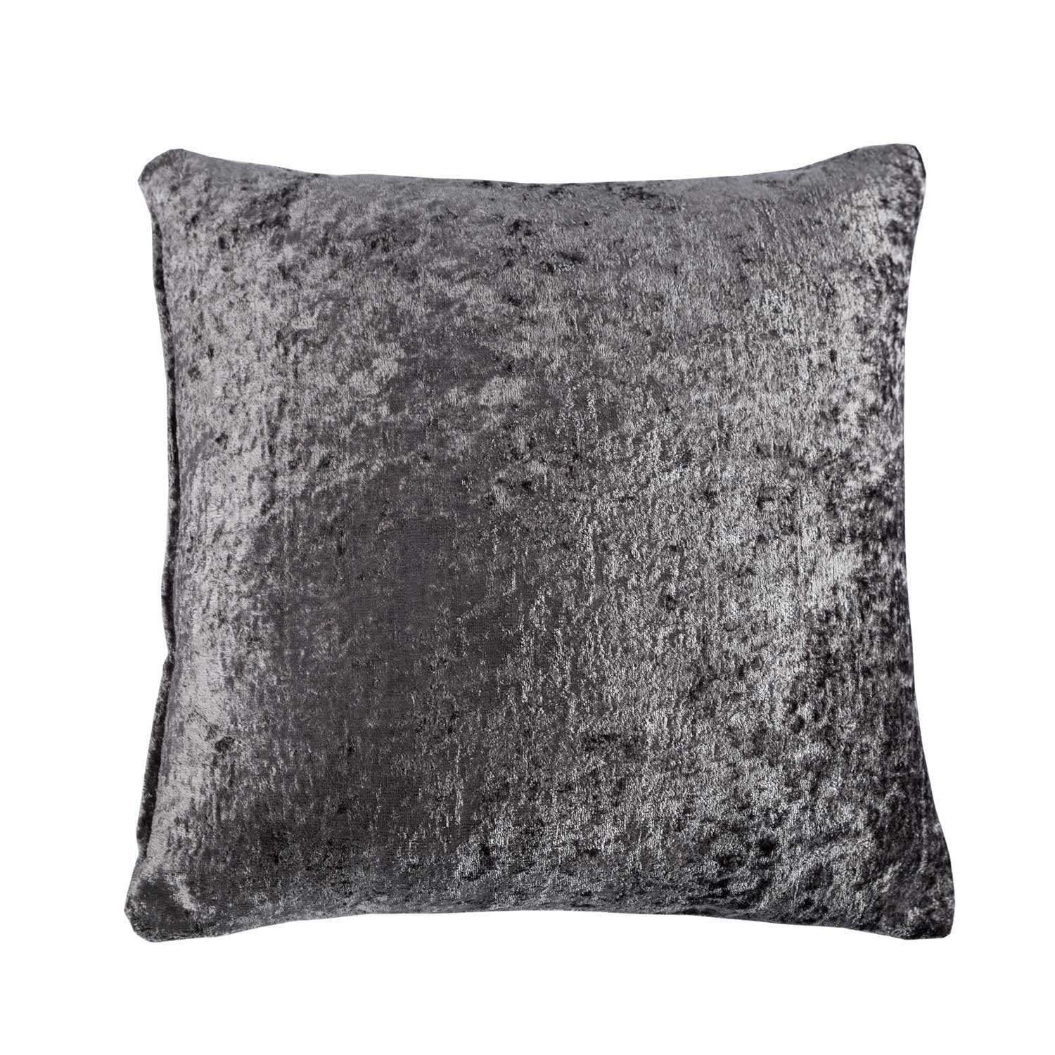 Square Scatter Cushion for Sofa or Bed 45 cm Homescapes Luxury Champagne Crushed Velvet Cushion Cover 18 x 18 Inch