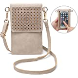 seOSTO Small Crossbody Bag Cell Phone Purse Wallet with 2 Shoulder Strap Handbag for Women Girls