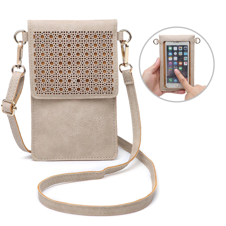 237ede9fc4a78 seOSTO Small Crossbody Bag Cell Phone Purse Wallet with 2 Shoulder Strap  Handbag for Women Girls (Beige): Handbags: Amazon.com