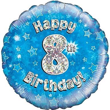 Oaktree Palloncino Blu Di Buon Compleanno 8 Anni Taglia