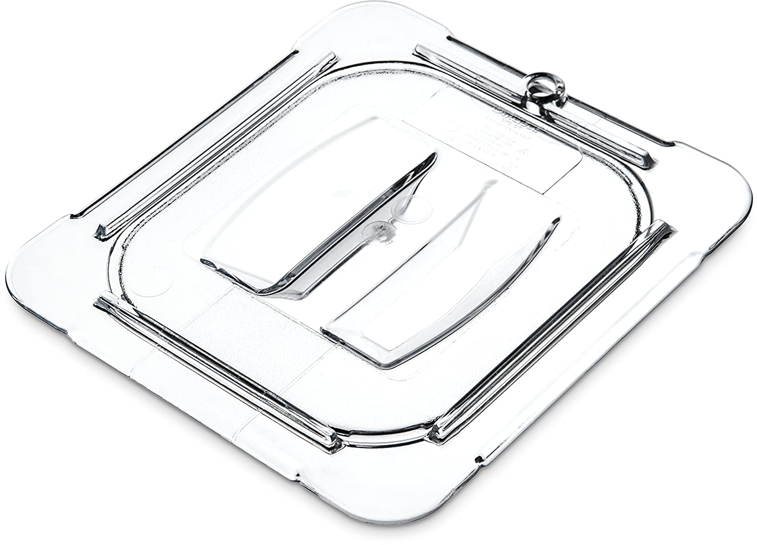 Carlisle 10310U07 StorPlus Sixth Size Polycarbonate Universal Handled Food Pan Lid, Clear