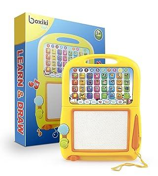 65d381bcb8b Tablet de Aprendizaje en Inglés de Boxiki Kids + Pad Magnético para Dibujar  por Juguetes Musicales