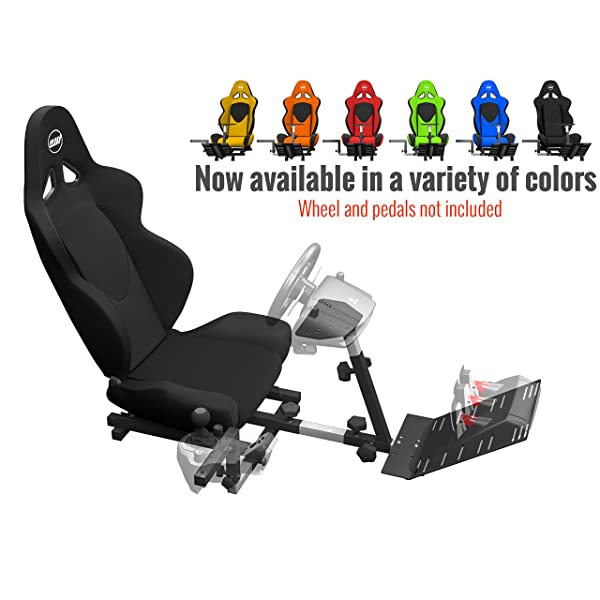 46ea9669529 Openwheeler Racing Wheel Stand Cockpit Black on Black | For Logitech G29 |  G920 and Logitech
