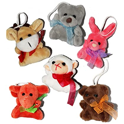 53ca343b734 ... Joyin Toy 24 Pack of Mini Animal Plush Toy Assortment (24 units 3 ...