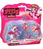 Dracco M081060 - Filly Stars Glitzer, Mutter und 3 Babys, bunt / Farbige Sortiments