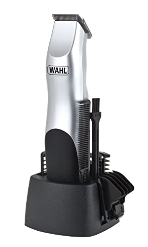 Wahl 9906-2017 Silver Groomsman Battery Hair, Beard and Moustache Trimmer Set