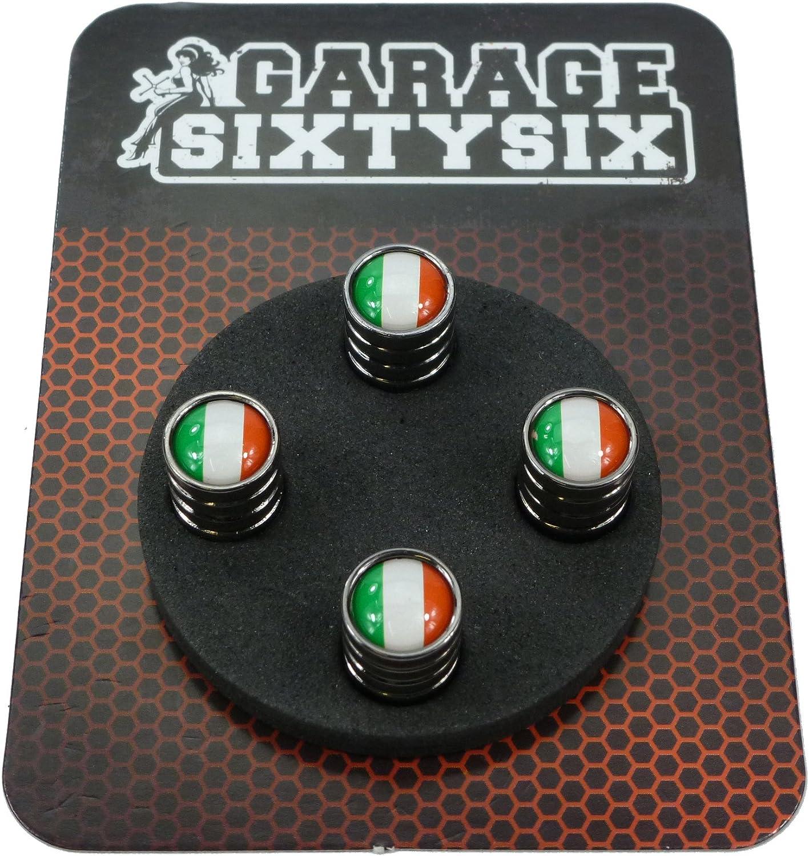 Garage-SixtySix Lot de bouchons de valve avec porte-cl/és Chrom/é