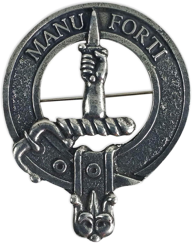 Gaelic Themes MacKay Scottish Family Clan Crest Badge//Brooch