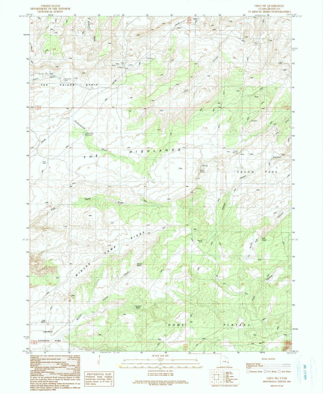 Amazon Com Yellowmaps Cisco Sw Ut Topo Map 1 24000 Scale 7 5 X