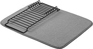 "AmazonBasics Drying Rack and Mat - 16"" x 18"" - Charcoal & Black, 2-Pack"
