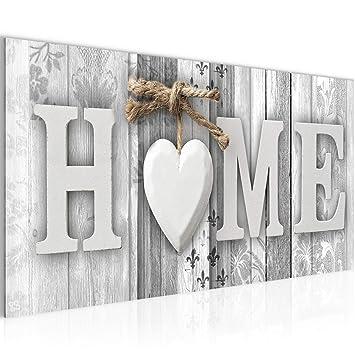 Runa Art Bilder Home Holz Bretter Wandbild Vlies - Leinwand Bild XXL ...