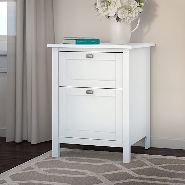 Bush Furniture Broadview 2 Drawer File Cabinet in Pure White